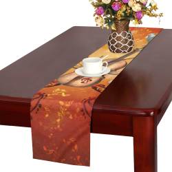 Music, violin with dove Table Runner 14x72 inch