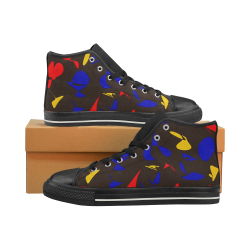 zappwaits g6 Men's Classic High Top Canvas Shoes (Model 017)
