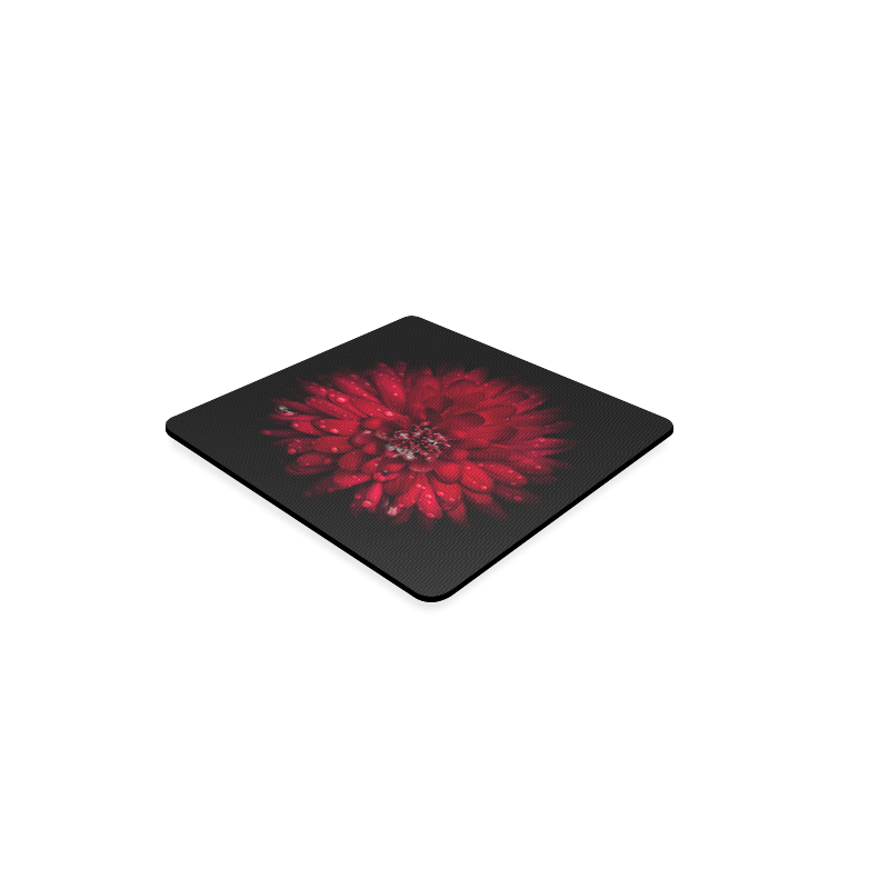 Backyard Flowers 45 Color Version Square Coaster