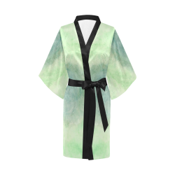 Green Dimension Flower Kimono Robe
