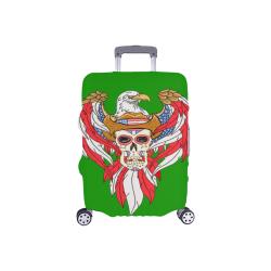 "American Eagle Sugar Skull Green Luggage Cover/Small 18""-21"""