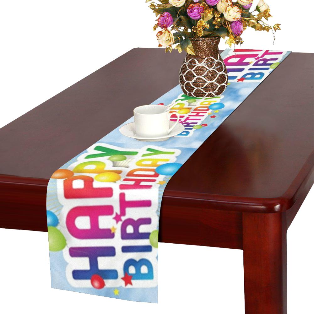 Happy Birthday Table Runner 16x72 inch