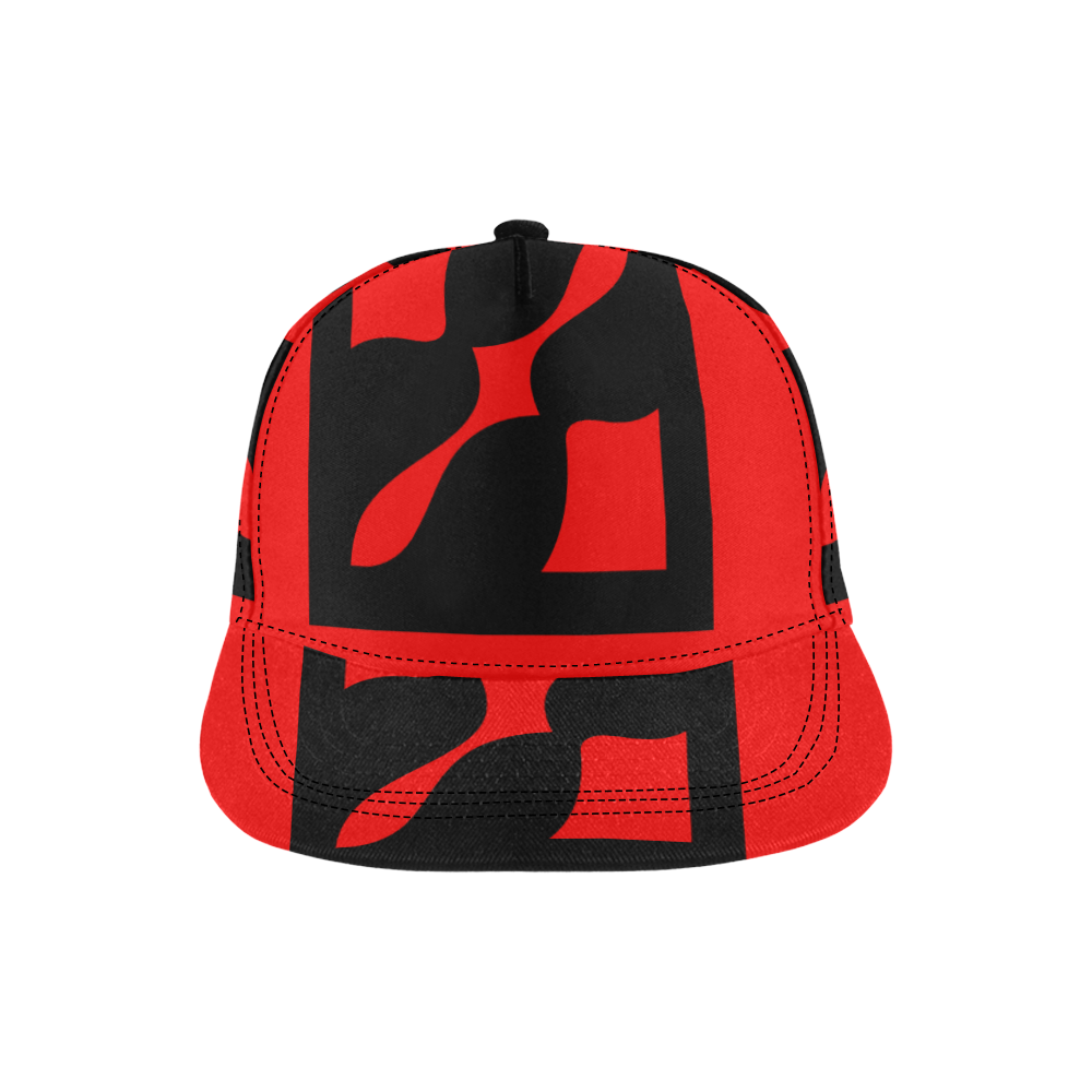 black ivolve in red All Over Print Snapback Hat D