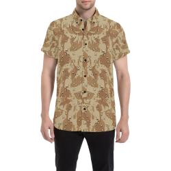 Desert Camouflage Pattern Men's All Over Print Short Sleeve Shirt (Model T53)