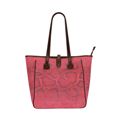 SNAKE LEATHER 6 Classic Tote Bag (Model 1644)