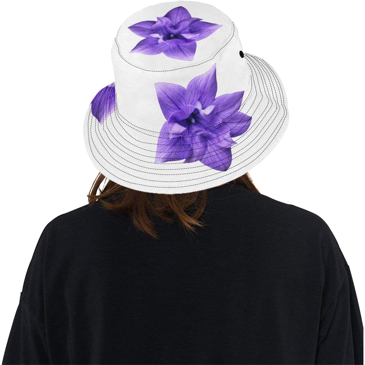 Balloon Flower All Over Print Bucket Hat