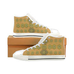 stars in the sky Men's Classic High Top Canvas Shoes (Model 017)