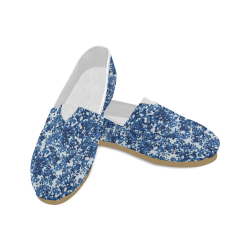 Digital Blue Camouflage Unisex Casual Shoes (Model 004)