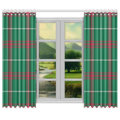 "Welsh National Tartan Window Curtain 50""x84""(Two Piece)"