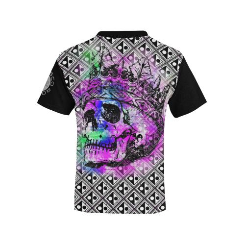 PATTERN SKULL ART KING Kids' All Over Print T-shirt (Model T65)