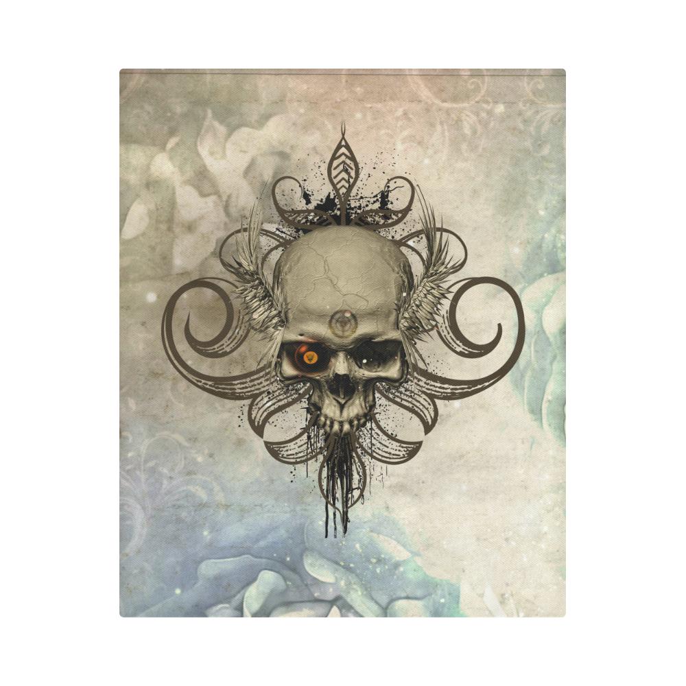 """Creepy skull, vintage background Duvet Cover 86""""x70"""" ( All-over-print)"""