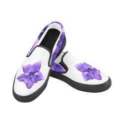 Balloon Flower Women's Unusual Slip-on Canvas Shoes (Model 019)