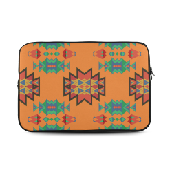 "Misc shapes on an orange background Custom Sleeve for Laptop 17"""