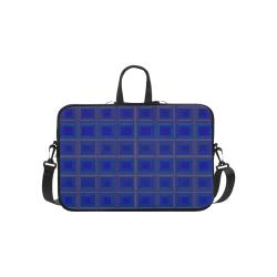 "Royal blue golden multicolored multiple squares Laptop Handbags 14"""