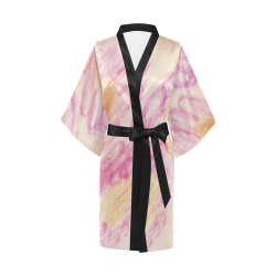 Pink Flowerets Kimono Robe