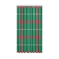 "Welsh National Tartan Window Curtain 52"" x96""(One Piece)"
