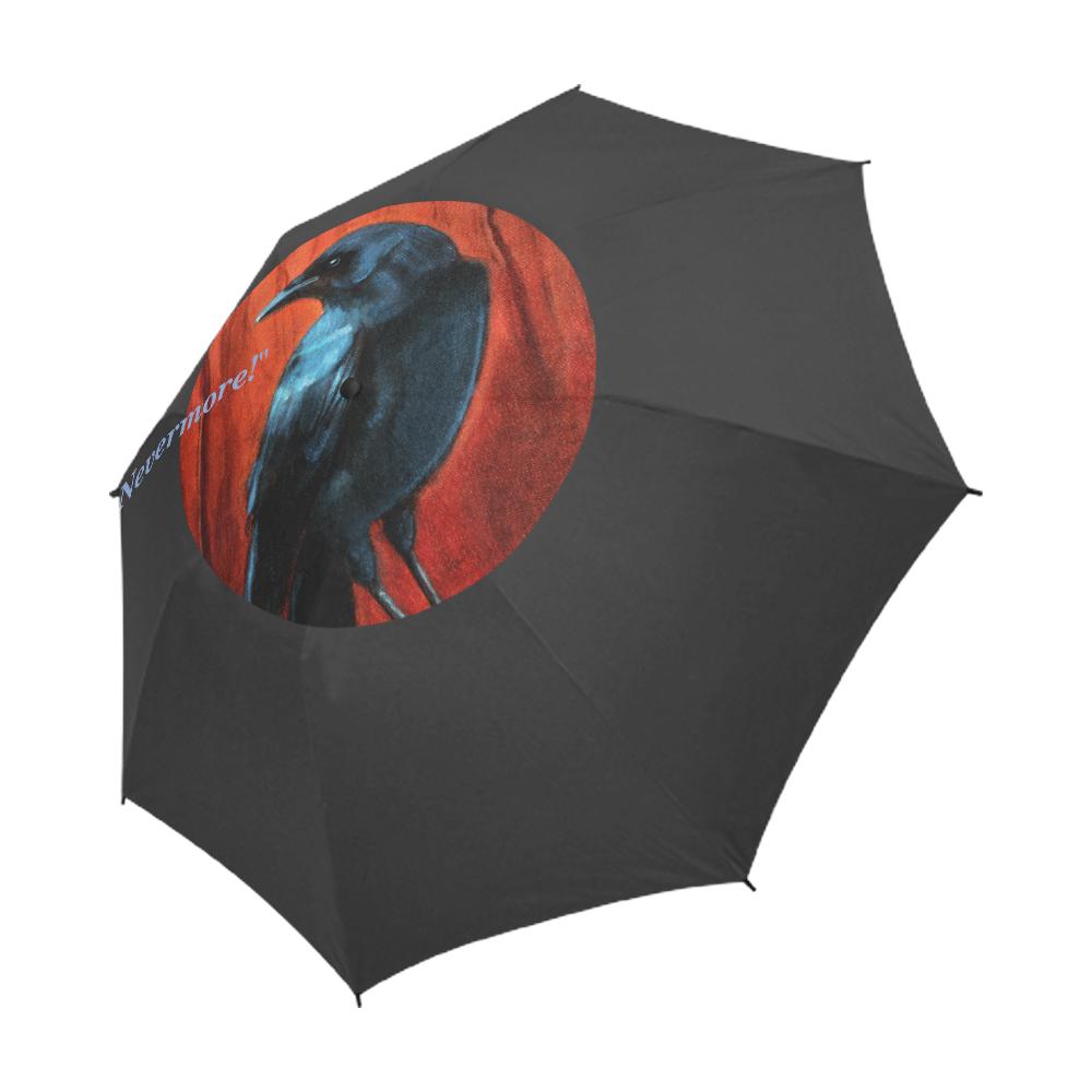 """Quoth the Raven, """"Nevermore!"""" Semi-Automatic Foldable Umbrella (Model U05)"""
