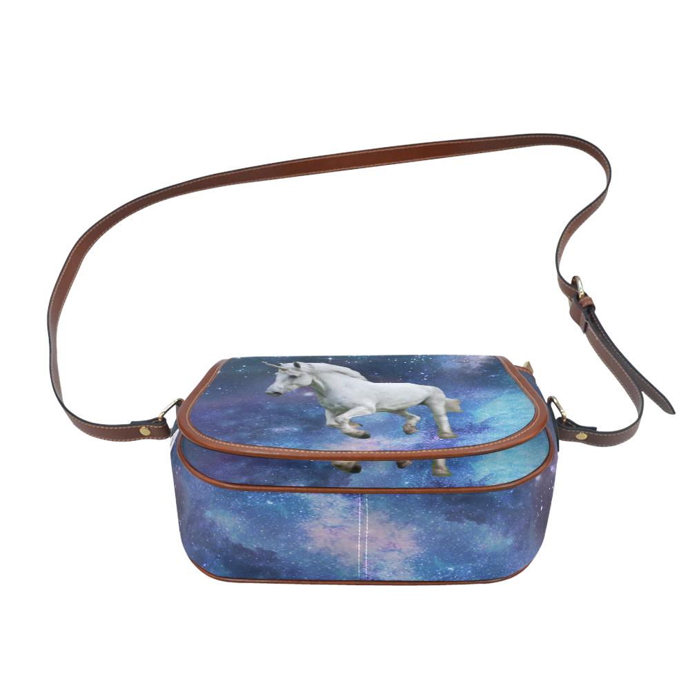 Unicorn and Space Saddle Bag/Large (Model 1649)