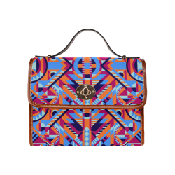 Modern Geometric Pattern Waterproof Canvas Bag/All Over Print (Model 1641)