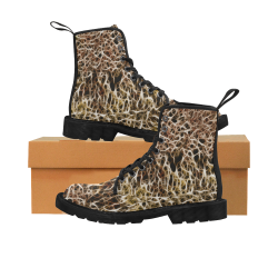 Misty Fur Coral by Jera Nour Martin Boots for Women (Black) (Model 1203H)