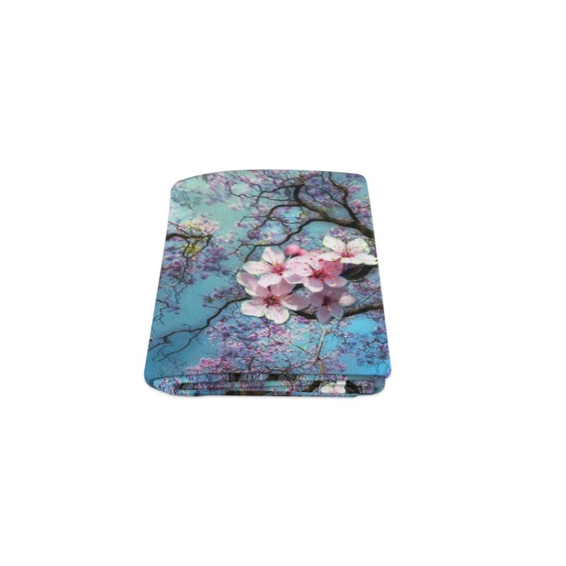 "Cherry blossomL Blanket 40""x50"""