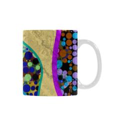 Abstract Pattern Mix - Dots And Colors 1 Custom White Mug (11OZ)