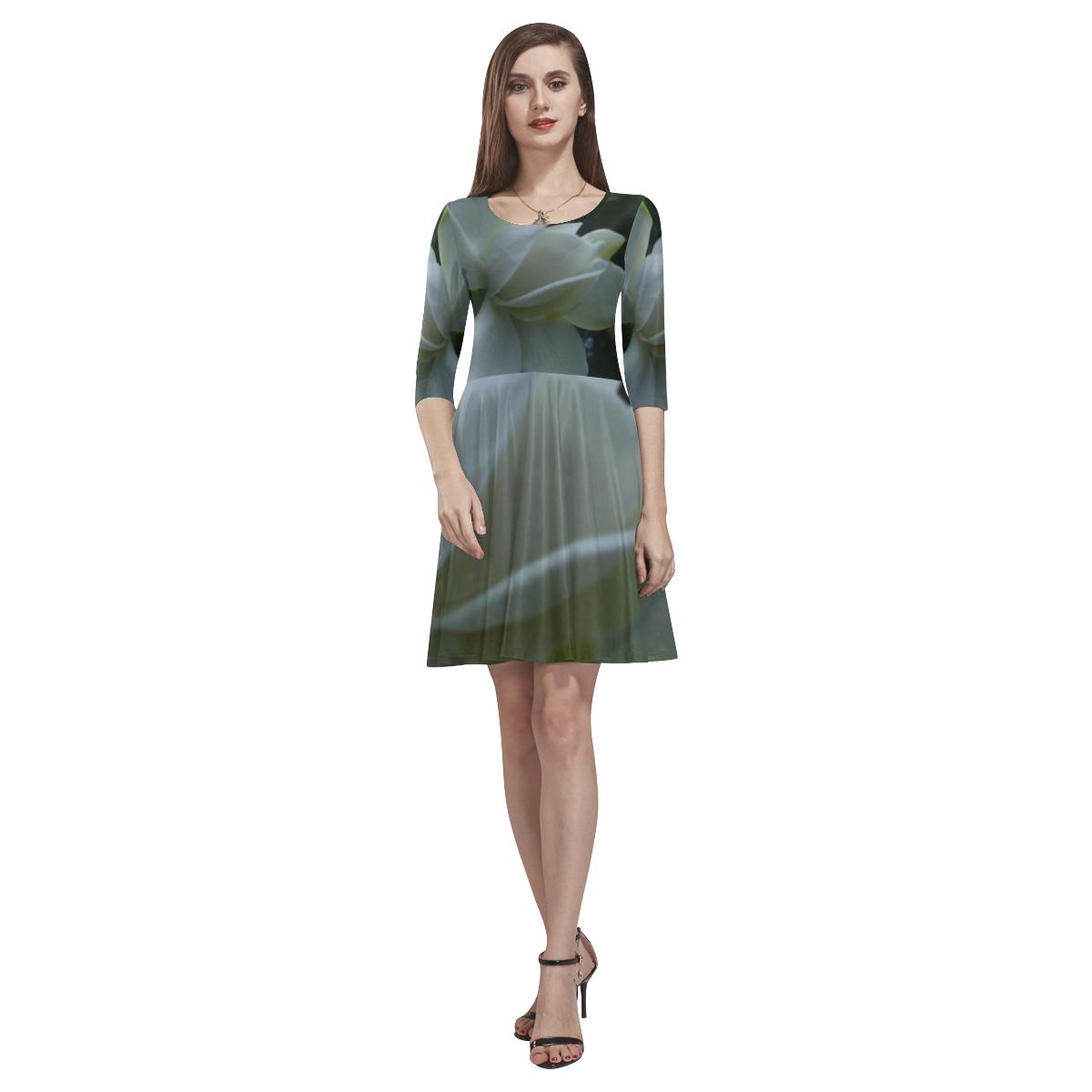 The Beginning Tethys Half-Sleeve Skater Dress(Model D20)