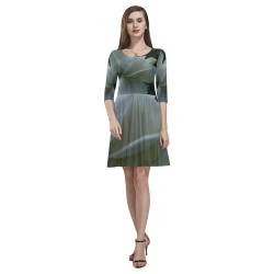 The Beginning Tethys Half-Sleeve Skater Dress(Model D20)