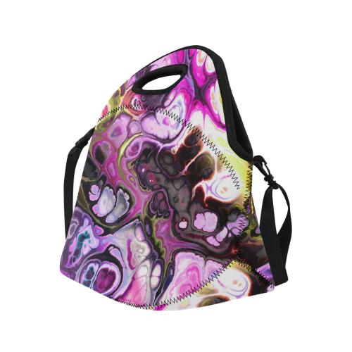 Colorful Marble Design Neoprene Lunch Bag/Large (Model 1669)