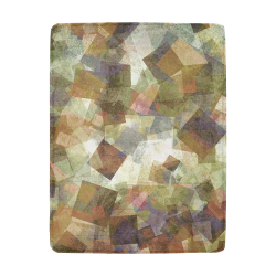 abstract squares Ultra-Soft Micro Fleece Blanket 43''x56''