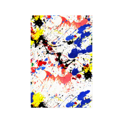 "Blue and Red Paint Splatter Poster 20""x30"""