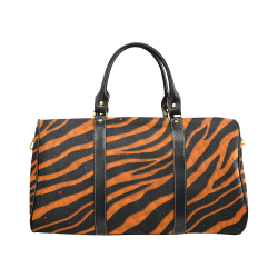 Ripped SpaceTime Stripes - Orange New Waterproof Travel Bag/Large (Model 1639)