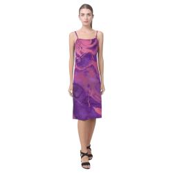 FD's Purple Marble Collection- Women's Purple Marble Slip Dress 53086 Alcestis Slip Dress (Model D05)
