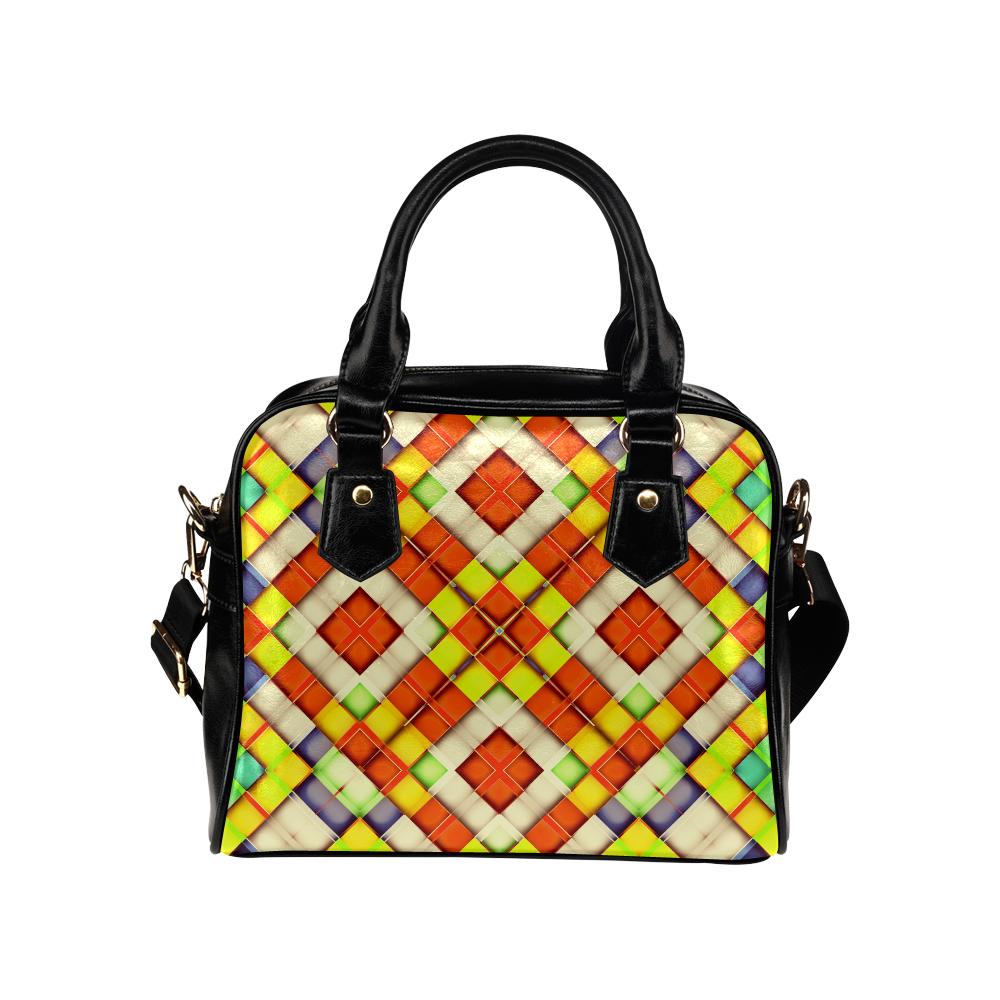colorful geometric pattern Shoulder Handbag (Model 1634)