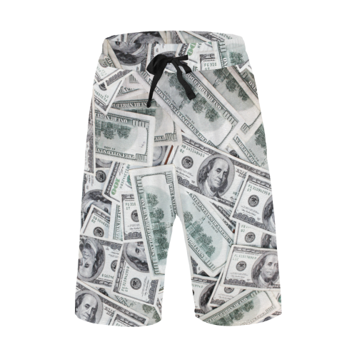 Cash Money / Hundred Dollar Bills Men's All Over Print Casual Shorts (Model L23)