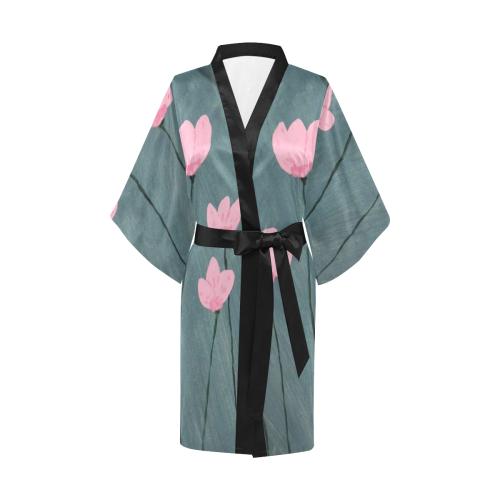 Rouissant Tulipes Kimono Robe