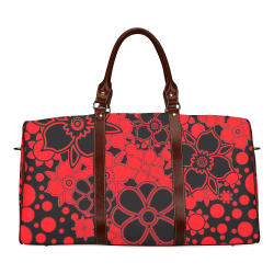 FLORAL DESIGN 46 Waterproof Travel Bag/Small (Model 1639)