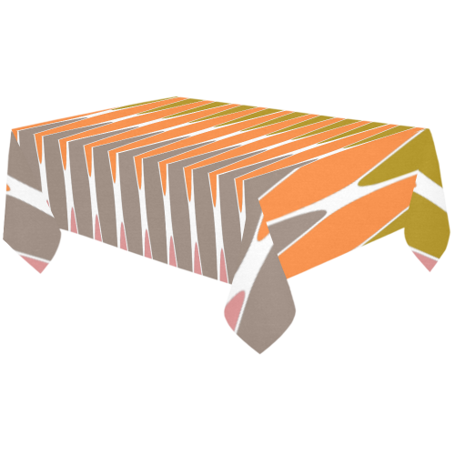 "zappwaits-01 Cotton Linen Tablecloth 60""x120"""