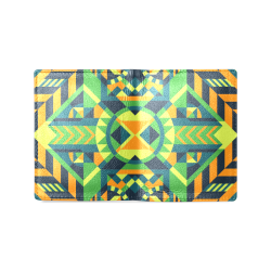 Modern Geometric Pattern Men's Leather Wallet (Model 1612)