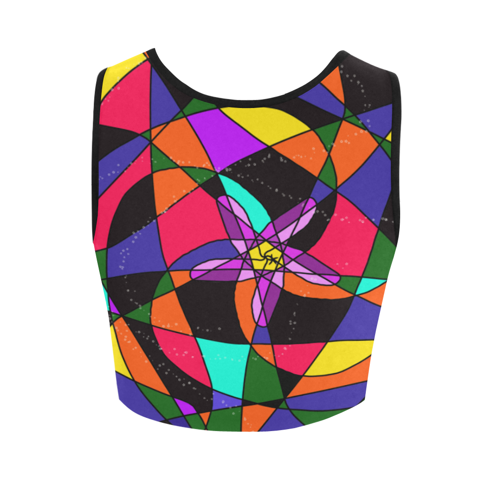 Abstract Design S 2020 Women's Crop Top (Model T42)
