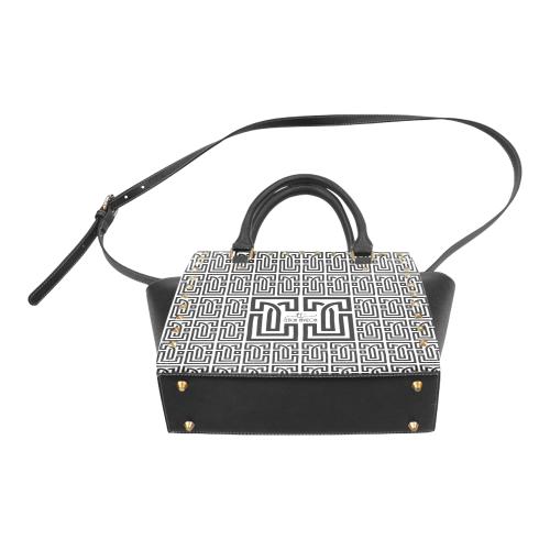 Leticia Tavizon White Rivet Shoulder Handbag (Model 1645)