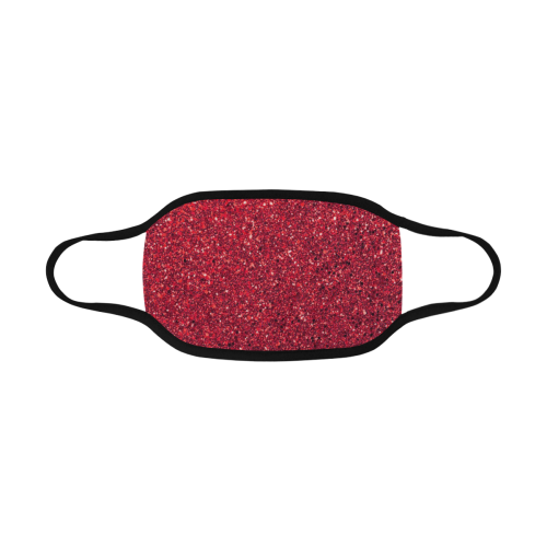 red  glitter Mouth Mask