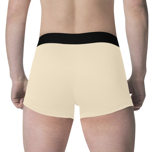 color blanched almond Men's All Over Print Boxer Briefs (Model L34)