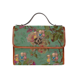 Hooping in The Rose Garden Waterproof Canvas Bag/All Over Print (Model 1641)