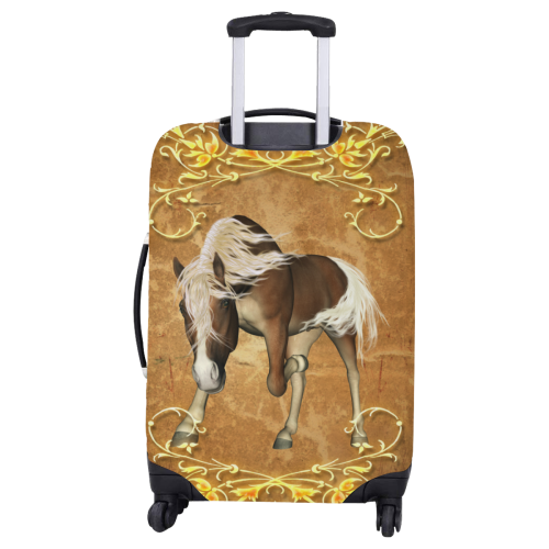 """Wonderful brown horse Luggage Cover/Large 26""""-28"""""""