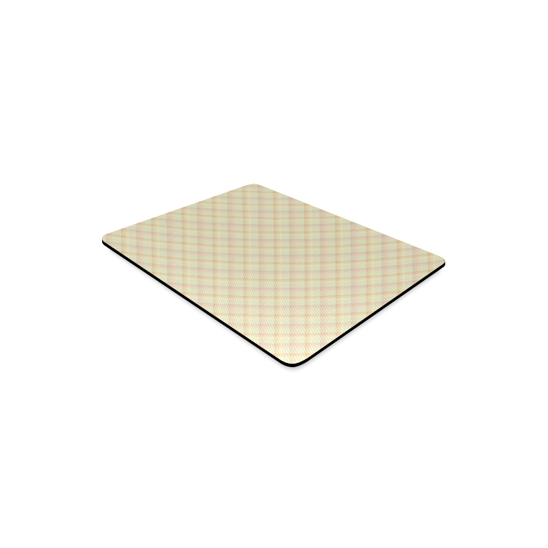Pastel Yellow Orange Crisscross Stripes Rectangle Mousepad