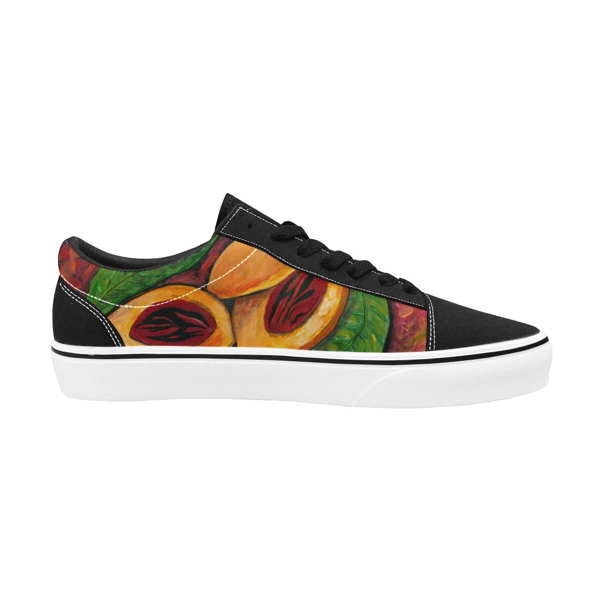 MANUSARTGND Women's Low Top Skateboarding Shoes (Model E001-2)