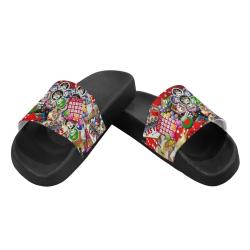 Gamblers Delight - Las Vegas Icons Women's Slide Sandals (Model 057)