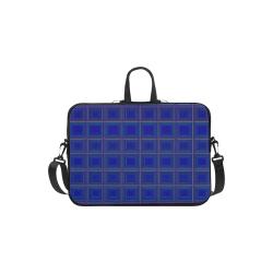 "Royal blue golden multicolored multiple squares Laptop Handbags 13"""