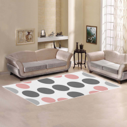 abstract geometry   polka dot Area Rug 7'x3'3''